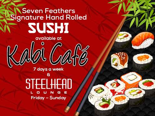 Seven Feathers Casino Resort In Canyonville Oregon Offers Hand Rolled Sushi