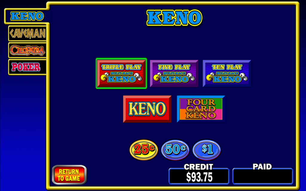 Play Video Keno At Seven Feathers Casino Resort In Canyonville Oregon