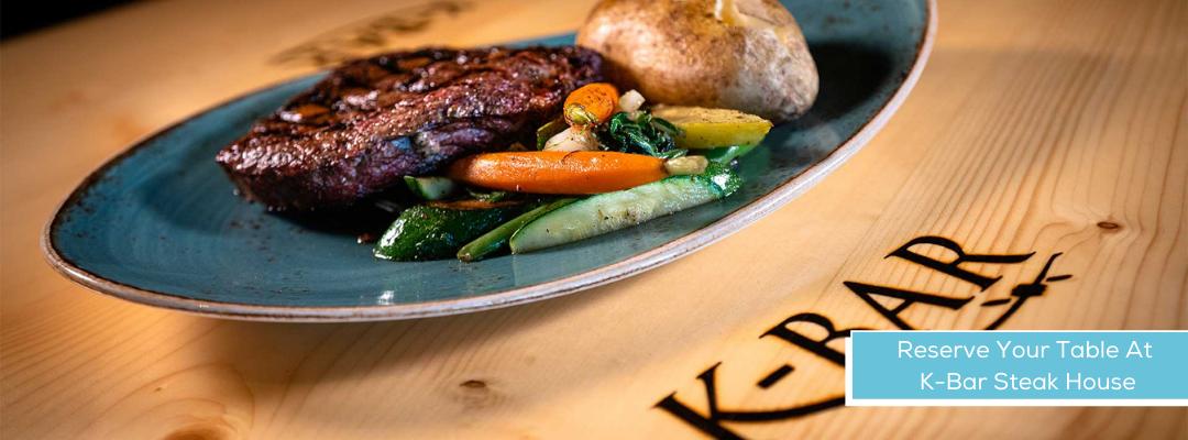 Dine At K-Bar Steak House Inside Seven Feathers Casino Resort